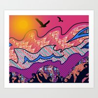 Over The Pink Sea Art Print