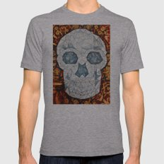 Galvanized Skull Mens Fitted Tee Athletic Grey SMALL