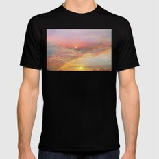 Sunrise & Sunset Black Mens Fitted Tee SMALL