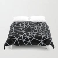 Segment Grey and Black Duvet Cover