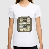 Glasses Vertical Womens Fitted Tee Ash Grey SMALL