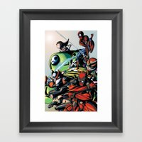 CartoonMix Framed Art Print