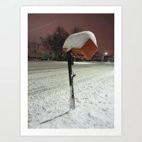 Mailbox Under Seige Art Print