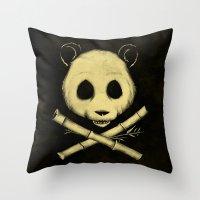 The Jolly Panda Throw Pillow