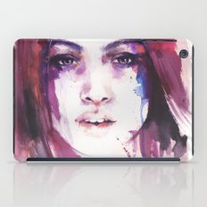 A girl from the other side of the street iPad Case