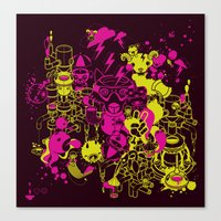 Dream Factory Pink And Y… Canvas Print
