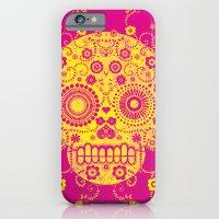 sugar skull iPhone & iPod Cases featuring Sugar Skull by Farnell