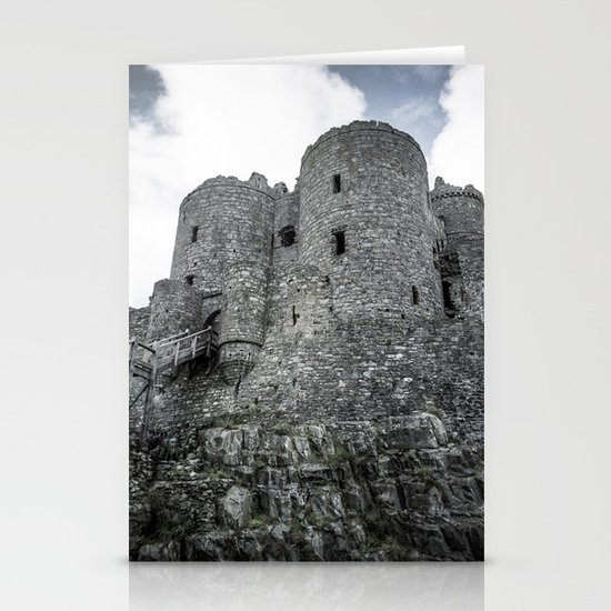Faded Memories: Harlech Castle Stationery Card