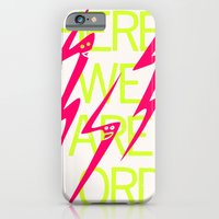 iPhone & iPod Case featuring Lightning Speaks by Raquel Serene
