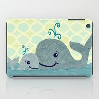 Whale Mom And Baby iPad Case