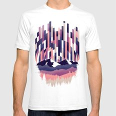 Sunrise in Vertical - Winter Purple Mens Fitted Tee SMALL White