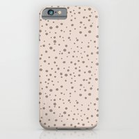 PolkaDots-Taupe On Peach iPhone 6 Slim Case