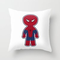 Chibi Spider-man Throw Pillow
