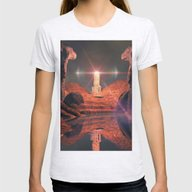 Mystical Fantasy World Womens Fitted Tee Ash Grey SMALL