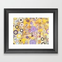 Purple Yellow Washing Ma… Framed Art Print