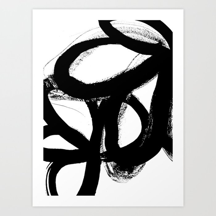 Sunday's Society6 | Art print black and white painting