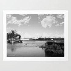Crumbled Pier Art Print