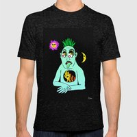 Trippy Face Mens Fitted Tee Tri-Black SMALL