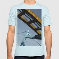 roller Mens Fitted Tee Light Blue SMALL