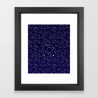 Star Lovers Framed Art Print