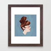 Ginger Cutie Framed Art Print