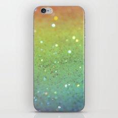 RAINBOW GLITTER iPhone & iPod Skin