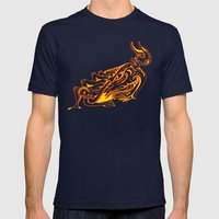 Lava Mens Fitted Tee Navy SMALL