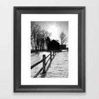 Winter Barns Framed Art Print