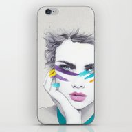 iPhone & iPod Skin featuring War Paint Sally by Jenny Liz Rome