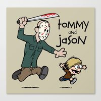 Tommy And Jason Canvas Print
