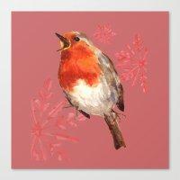 Winter Herald, Robin, Robin Redbreast, Christmas Bird Canvas Print