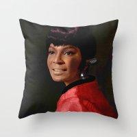 Uhura Throw Pillow