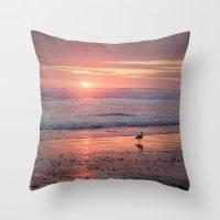 Sunset At Cannon Beach O… Throw Pillow
