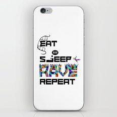 Eat Sleep RAVE Repeat iPhone & iPod Skin