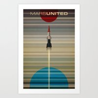 MarsUnited Liftoff Art Print