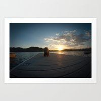 Puppy On A Dock Art Print
