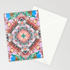 Textured Abstract Tile Pattern Stationery Cards