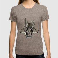 Lou's Tavern  Womens Fitted Tee Tri-Coffee SMALL