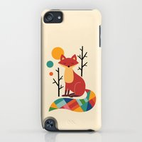iPod Touch Cases featuring Rainbow Fox by Andy Westface