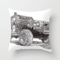 Jeep Throw Pillow
