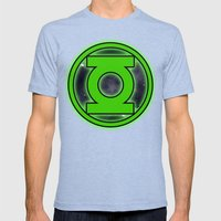 Go Green! Mens Fitted Tee Tri-Blue SMALL