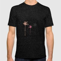 Tropical Palm Dreams  Mens Fitted Tee Tri-Black SMALL