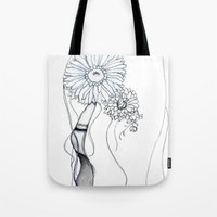 Flower Hair Tote Bag