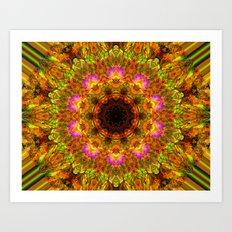 Kaleidoscope - Summer Garden Art Print