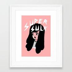 Super Sulk Framed Art Print