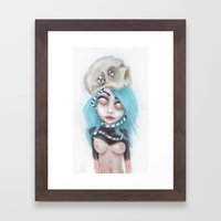 (Wearing Away) Blue Framed Art Print