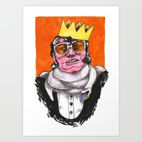 King Choker Art Print