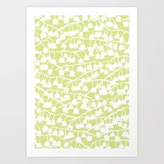 Lily of the Valley repeat Art Print
