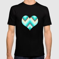 Simple Chevron Mens Fitted Tee Black SMALL