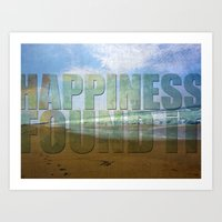 Happiness...found it Art Print